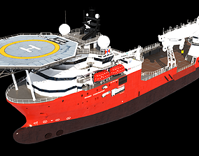 3D model Subsea support and construction vessel