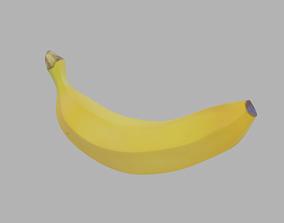textures 3D model low-poly Banana