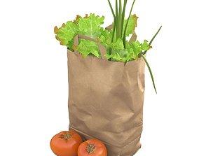 3D model Vegetables in paper bag
