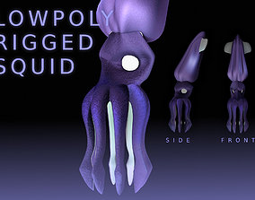 LowPoly Small Squid 3D model