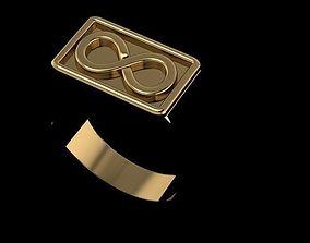 3D printable model mens infinity ring