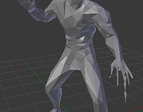 3D model Animated low-poly Satan