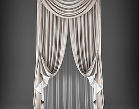 drape 3D model VR / AR ready Curtain