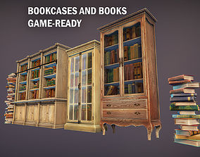 3D model Bookcases and books