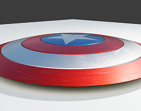 captain America Shield Infinity War made with 3D model