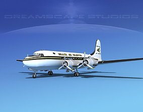 Douglas DC-4 Miller Air Cargo 3D model