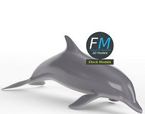 Stylized dolphin 3D