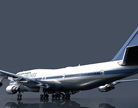 airport Boeing 747 3D model