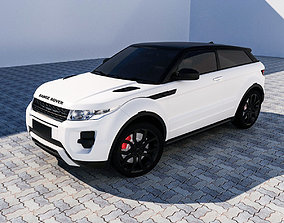 RANGE ROVER EVOQUE 3D model game-ready