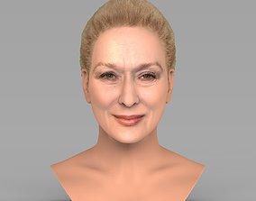 Meryl Streep bust ready for full color 3D printing