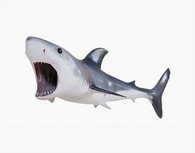 Great White Shark 02 Animated 3D model realtime