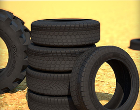 Low-poly Tire Pack 3D model