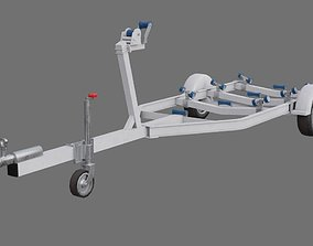 Boat Trailer 1A 3D model