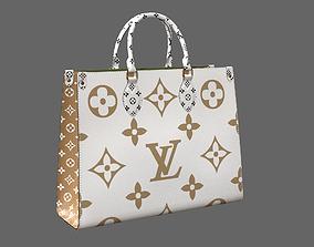 Louis Vuitton Onthego Giant Monogram Gold White 3D model