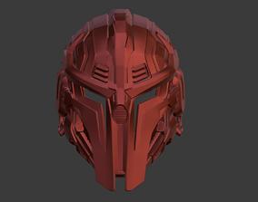 Sektor cyber ninja helmet mask for 3D printable model 5