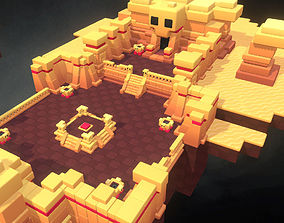 Dessert Temple - Smashy Craft Series 3D model realtime