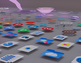 Hologram and Icon pack 3D model