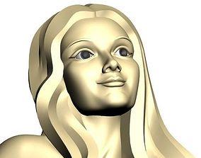 3D printable model Girl face