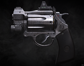 3D asset RCX-84 Break open Revolver