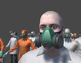3D asset Characters pack - laboratory scientists