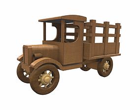Wooden car toy truck 2 3D