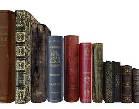 3D print model Old Books set