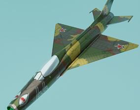 Fighter missile 3D model low-poly