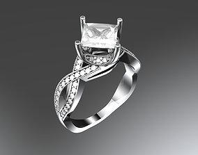 3D printable model diamond engagement Engagement ring