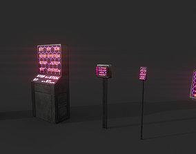 Set of Sci-Fi Computer Equipment 3D model
