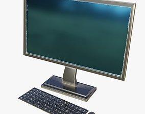 3D Desktop Computer - Low Poly