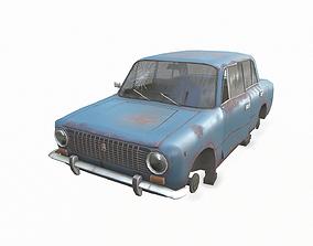 Soviet abandoned car 3D model
