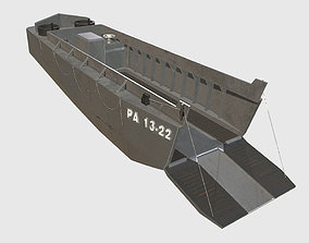 World War 2 LCVP Landing Boat 3D model PBR