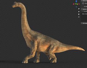 3D asset rigged Brachiosaurus