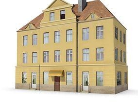 3D model Yellow Building