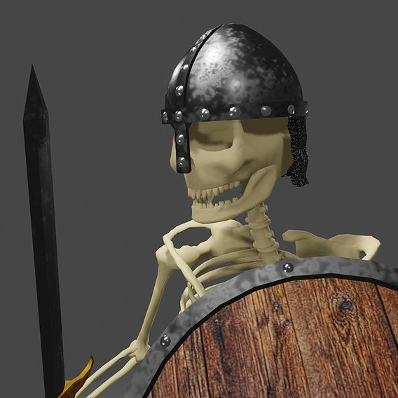 Skeleton Warrior Medieval