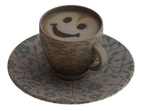 3D print model cup of coffee