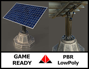 3D asset game-ready Solar Panel