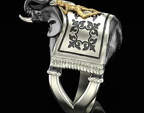 3D print model Girl on an elephant