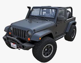3D asset Jeep Wrangler Custom