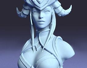 Daemon girl bust 3D print model