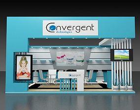 3D model 6x4Mtr Exhibition stand shop