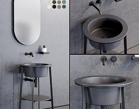 Ceramica Cielo Catino Tondo Washbasin 3D asset