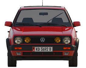 3D model VW Golf 2