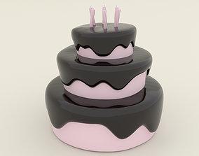 Stylized Birthday Cake - 3D Print Model