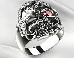3D print model Big Pirate Skull Ring