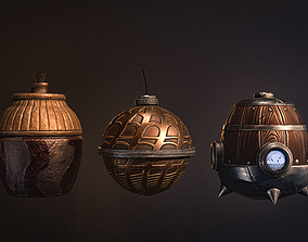 Medieval pocket bombs Stylized Low-Poly 3D model