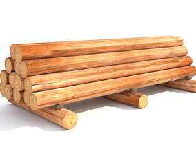 3D model furniture Round log