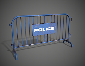 Police Barricade 3D model low-poly