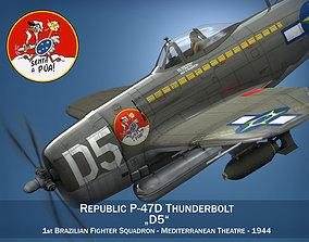 3D model Republic P-47D Thunderbolt - Brazilian Air Force