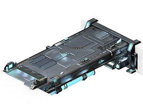 Space ship - deck 01 3D